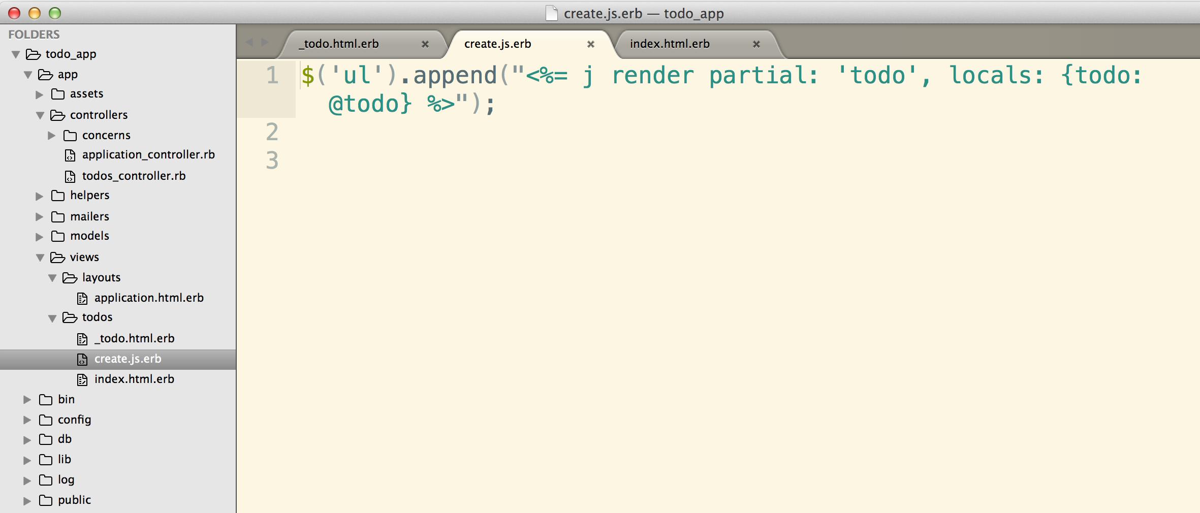 Integrating Ajax and Rails: A Simple Todo List App - code life